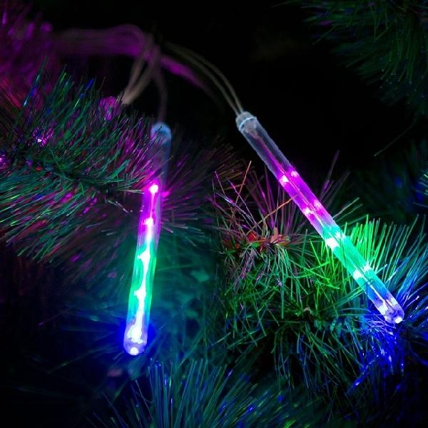 Meteor jégcsap - 50 LED - 11,5 cm - Multicolor - 3 x AA 58-038B
