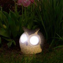 LED-es szolár állatfigura bagoly 3 féle színben 11426A