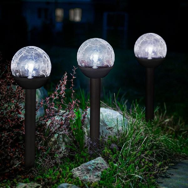 """LED-es színváltó szolár lámpa """"Kristály"""" 11-416B"""