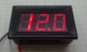 Digitális voltmérő, piros, panel (0-100V)